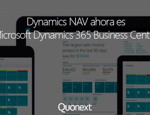 Microsoft Dynamics NAV ahora es Microsoft Dynamics 365 Business Central