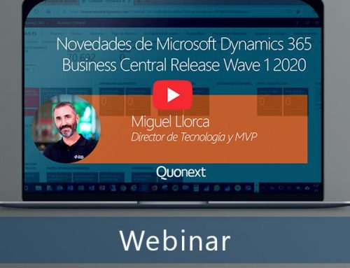 Novedades Microsoft Dynamics 365 Business Central Release Wave 1 2020